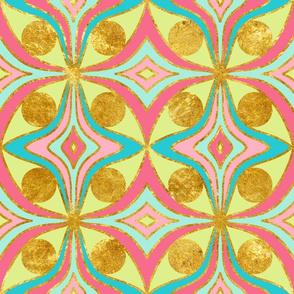 cat eye motif - multi