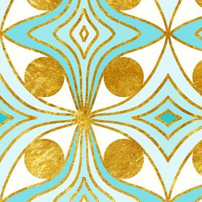 cat eye motif - aqua