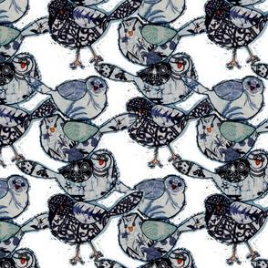Blue Bird Stack on White