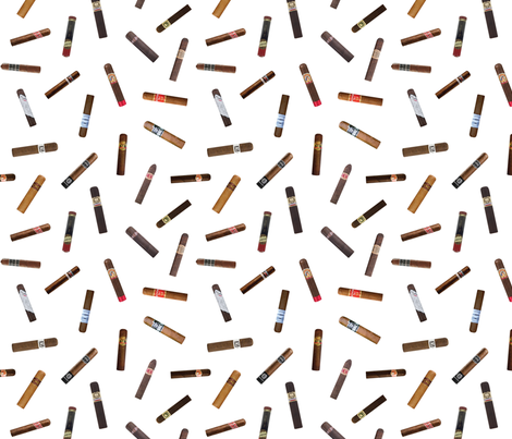 Scattered Cigars fabric by thinlinetextiles on Spoonflower - custom fabric
