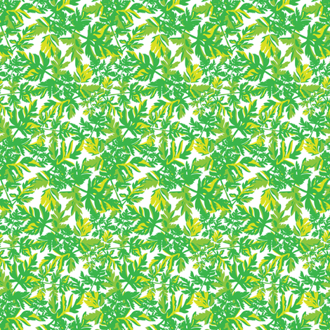 Spring Green Floral Botanical Tropical Leaves Small_Miss Chiff Designs fabric by misschiffdesigns on Spoonflower - custom fabric