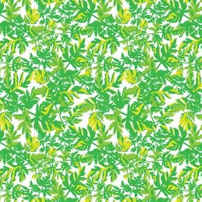 Spring Green Floral Botanical Tropical Leaves Small_Miss Chiff Designs