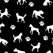Dogs n Paws - Black