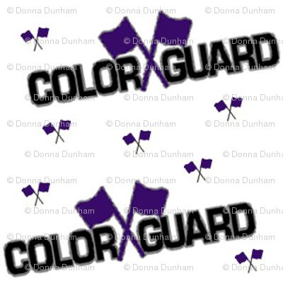 color guard purple