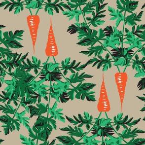 Orange Carrots Vegetable Food Green Leaf _Miss Chiff Designs
