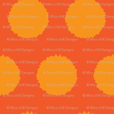 Jumbo Orange tangerine abstract dots    Carrot vegetable food _Miss Chiff Designs