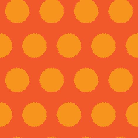 Jumbo Orange tangerine abstract dots    Carrot vegetable food _Miss Chiff Designs  fabric by misschiffdesigns on Spoonflower - custom fabric