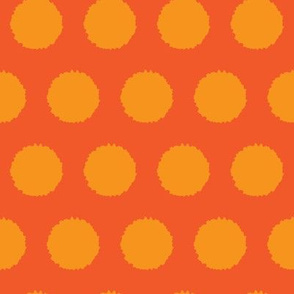 Jumbo Orange tangerine abstract dots || Carrot vegetable food _Miss Chiff Designs