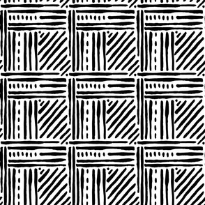 Black and White - Tribal Lines