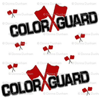 Color Guard Red Fabric Dknitter Spoonflower