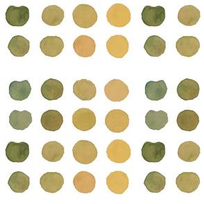 Green Watercolor Circles