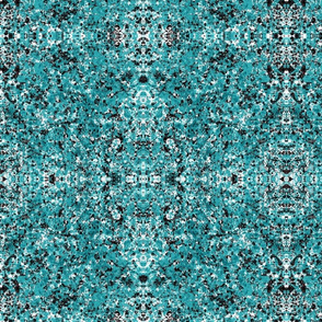 Aqua & Black Splatter Pattern