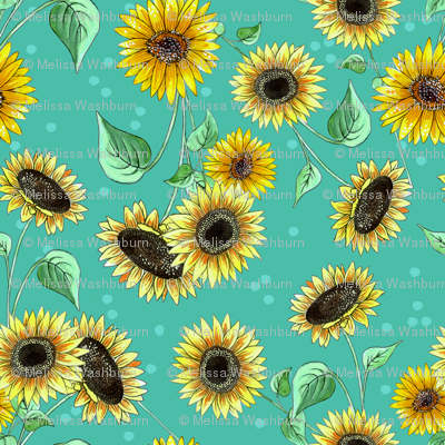 sunflower_repeat_blue
