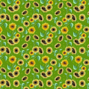 sunflower_repeat_green