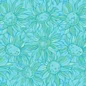 Sunflowers - Teal