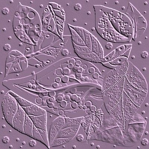 linocut for a Block Print  - Lilac