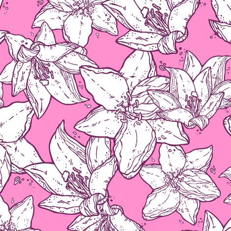 Spring flowers fabric by yuliia_studzinska on Spoonflower - custom fabric