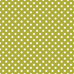 white polka dots on olive