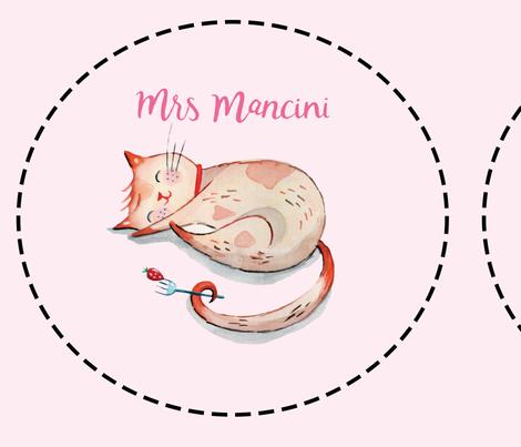 Mrs Mancini Cushion Blank (Mancini Pink) fabric by natalie&cheryl on Spoonflower - custom fabric
