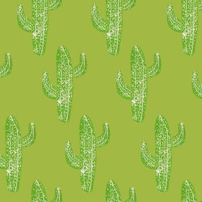 Linocut Cacti Pattern Camouflage