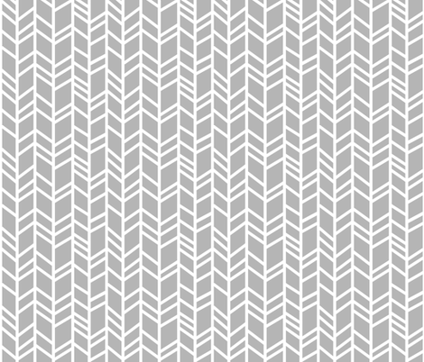 Herringbone- Evenstar Grey fabric by sugarpinedesign on Spoonflower - custom fabric