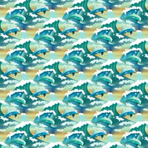 playing dolphins - small