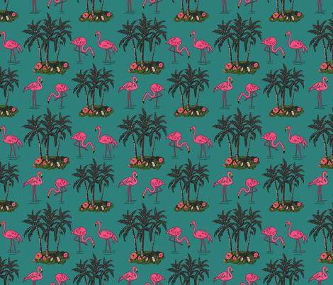 Vintage_flamingos_6x6 fabric by leroyj on Spoonflower - custom fabric