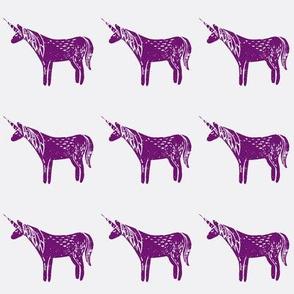 unicorn block print