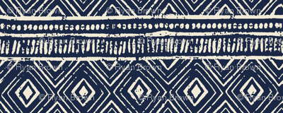 Mud Cloth // Navy & Eggshell // Extra Small