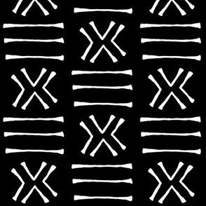 Malian Mudcloth on Black // Small