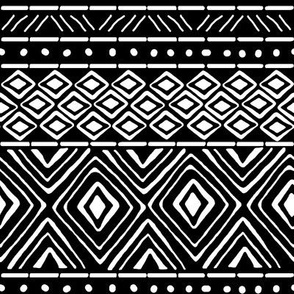 Ornate Black Mud Cloth // Small