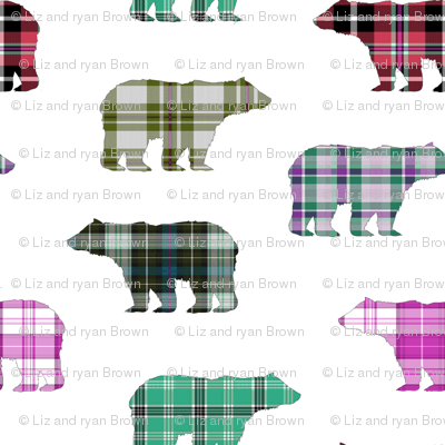 Plaid Bears II  // Sylvan Shoppe Collection