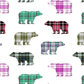 Plaid Bears II  // Sylvan Shoppe Collection