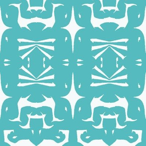 Tribal Print 4 Aqua