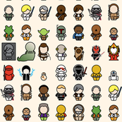 A Galaxy Far Far Away - 1in chibi (cream)