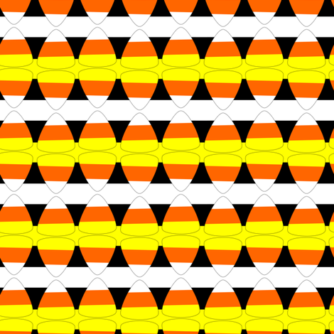 candycorn stripes fabric by pamelachi on Spoonflower - custom fabric