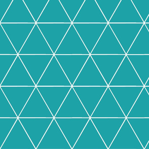 TRIangles -  teal blue