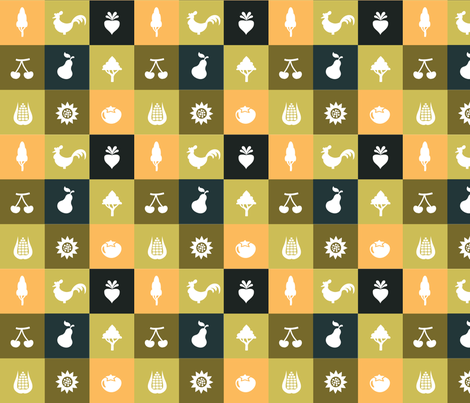 Farmer fabric by studiofibonacci on Spoonflower - custom fabric