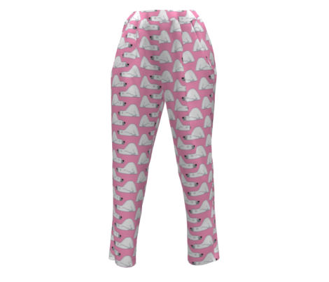 Cute Funny Cartoon Polar Bears Pink by Cheerful Madness!! Small-ed