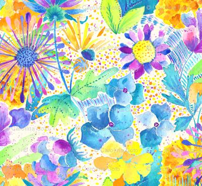 Vibrant Floral I