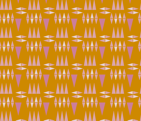 MUSTARD TRIANGLES fabric by melanie_hodge on Spoonflower - custom fabric