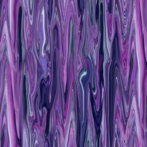 DRSC2-  Melted Marble in Purple - Lilac - Lavender - Pastel Blue - Lengthwise - Small