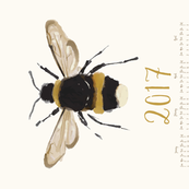 Bumble bee - 2017 calendar // sew your own calendar