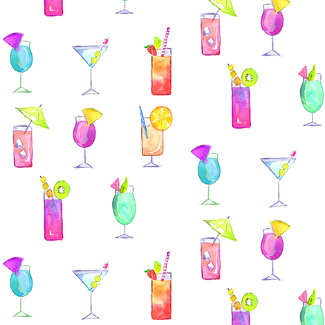 cocktails fabric by erinanne on Spoonflower - custom fabric