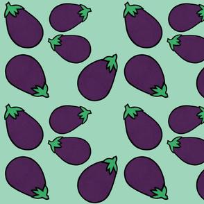 Eggplants in Mint