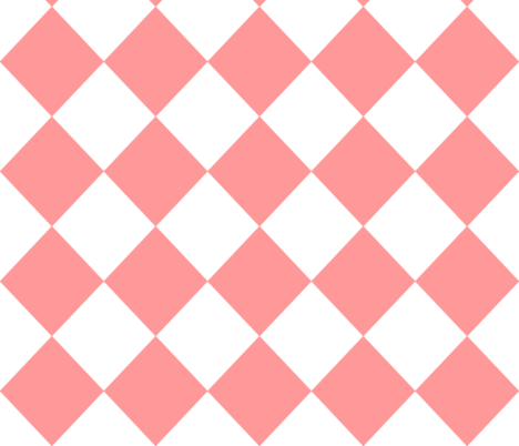 Diamonds- Pink and White fabric by essieofwho on Spoonflower - custom fabric