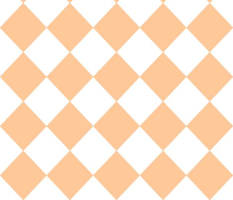 Diamonds- Peach and White fabric by essieofwho on Spoonflower - custom fabric