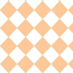 Diamonds- Peach and White