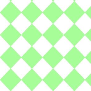 Diamonds- Green and White