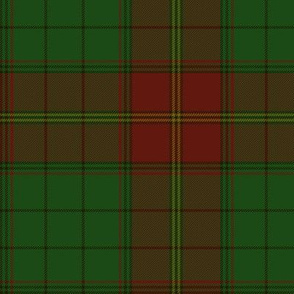 Ulster district tartan, red - muted, 6""